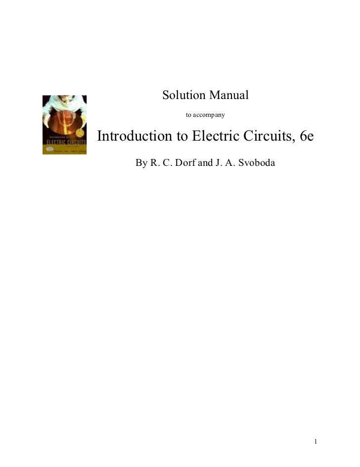 solution manual for introduction to electric circuitsSolution Manual For Introduction To Electric Circuits #1